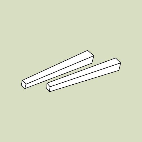 Bordben til skrivebordsplade - 2 stk. - h69,5