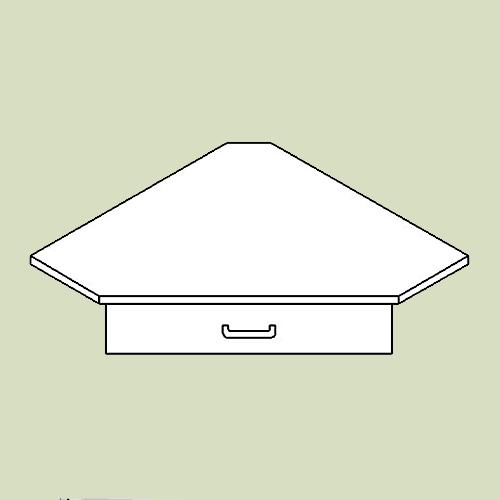 Hjørnehylde med 1 skuffe - h9 d36 b63