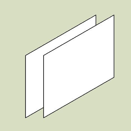 Bagklædning til hjørneskab - h61,5 b61x2