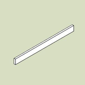 Sokkelliste til hjørnereol - h6,5 b56