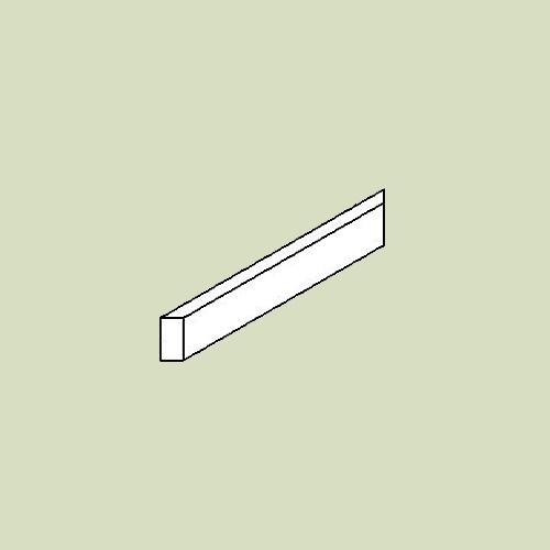 Sokkelliste til hjørneskab - h6,5 b47,5